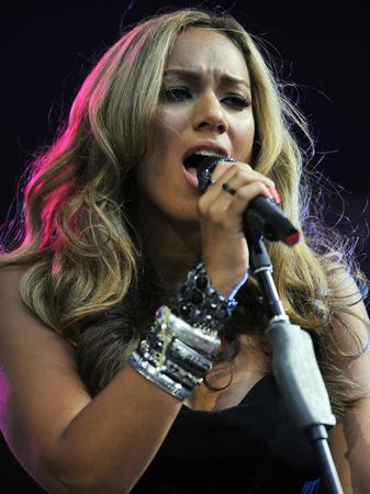 Leona Lewis on stage at the Summertime Ball