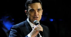 Robbie Williams singing
