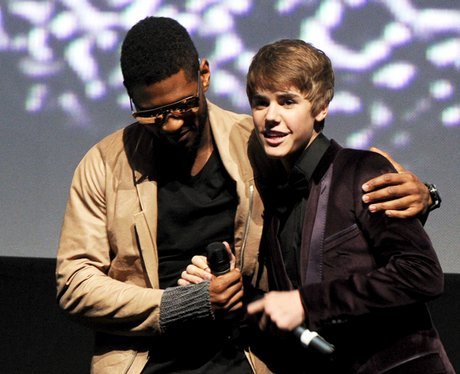 Usher and Justin Bieber Never Say Never premiere