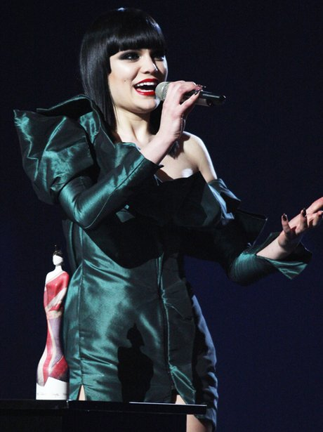 Jessie J On Stage At The BRIT Awards