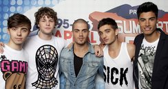 The Wanted backstage at the Summertime Ball