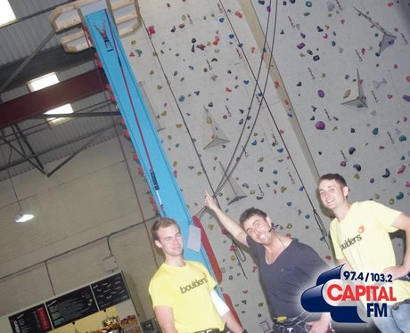 Matt takes on the Boulders wall!