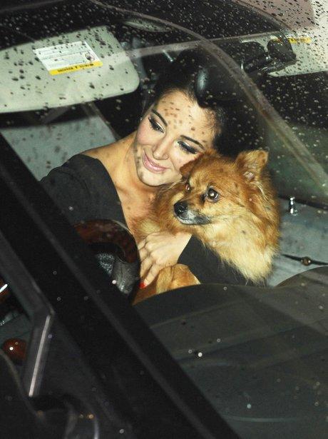 Tulisa and her dog