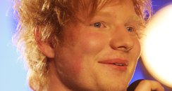 Ed Sheeran performs live at the 2012 BRIT awards n