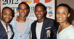 JLS attend the BRIT Awards 2012 nominations