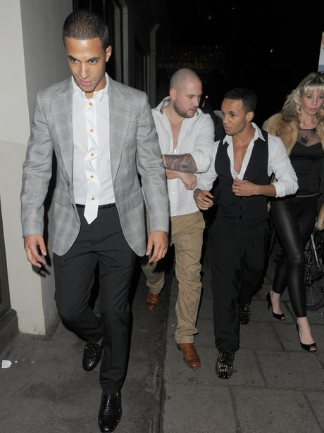 JLS out in London