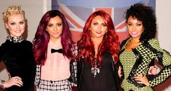 Little Mix arrive at the BRIT Awards 2012