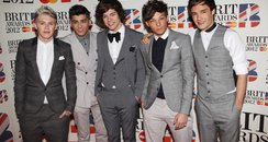 One Direction arrive at the 2012 BRIT Awards