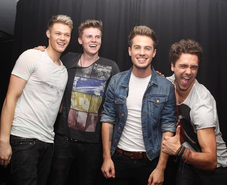 Lawson backstage at London's G-A-Y