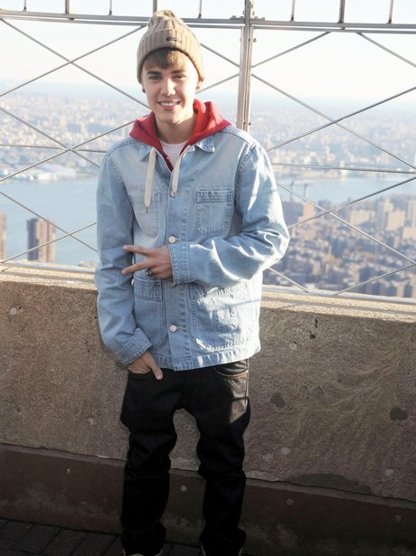 Justin Bieber on the Empire State Building