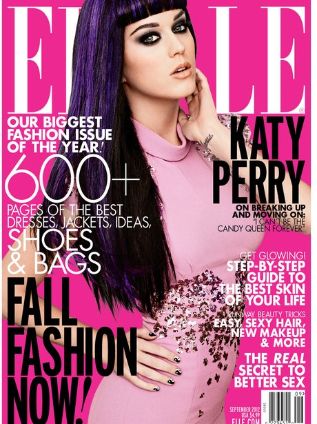 Katy Perry covers new Elle USA issue.