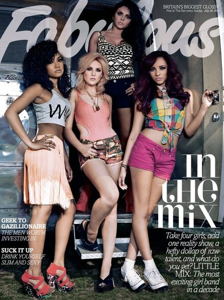 Little Mix on the new Fabulous magazine cover.