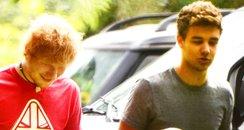 Ed Sheeran and Liam Payne play football