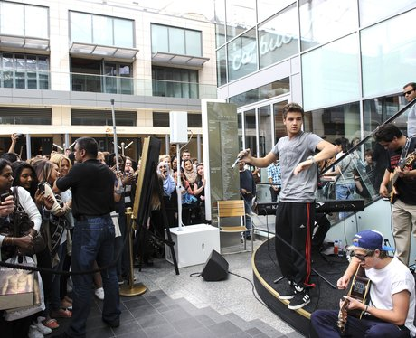 One Direction perform at Westfields shopping centre