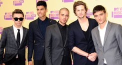 The Wanted arrive at the MTV VMA 2012 Awards