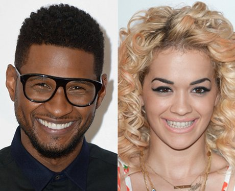 Usher and Rita Ora