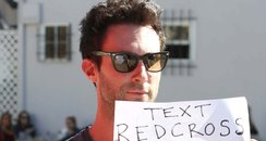 Adam Levine shows support to Hurricane Sand relief