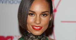 Alicia Keys arriving for the 2012 MTV Europe Music