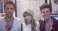 Lawson with Taylor Swift at the Jingle Bell Ball