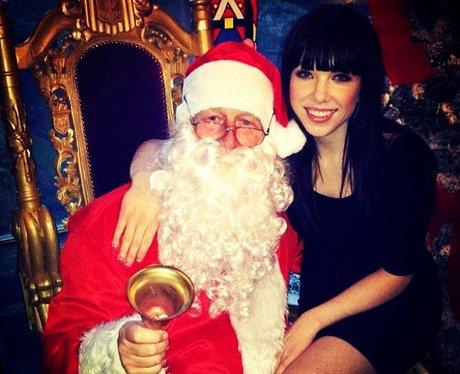 Carly Rae Jepsen and Santa Claus