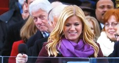 Bill Clinton and Kelly Clarkson at Obama's Inagura
