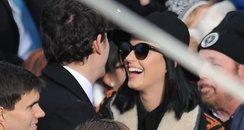 Katy Perry and John Mayer arrive at the Inaugurati