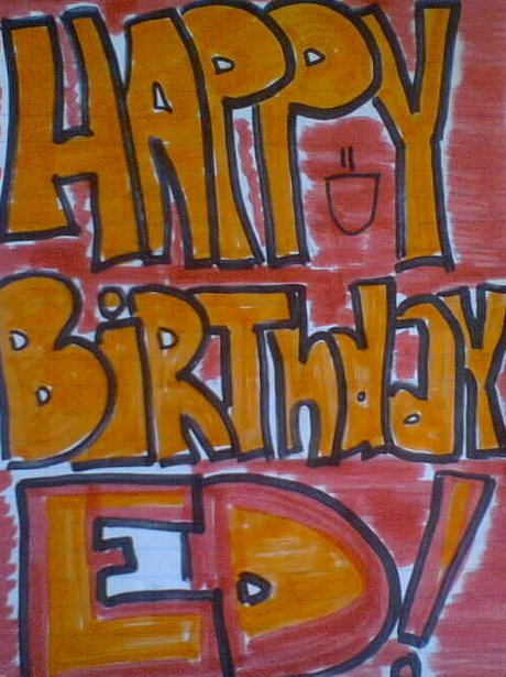 ed sheeran birthday card