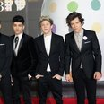 One Direction seen arriving at the BRIT Awards 201