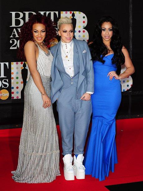 Stooshe arrive at the BRIT Awards 2013