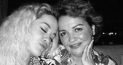 Rita Ora with her mum on Twitter