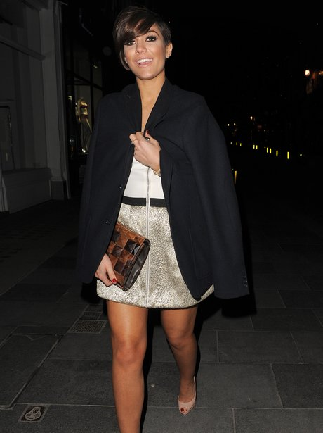 Frankie Sandford from The Saturdays on a night out
