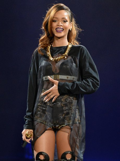 Rihanna live at the Staples Center Los Angeles