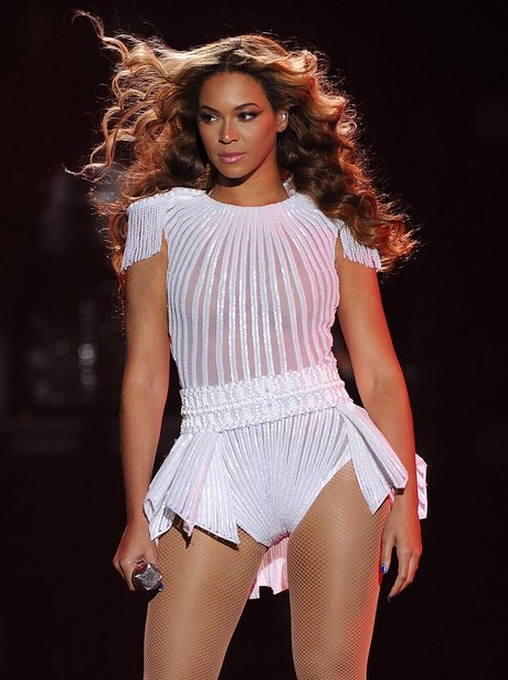 Beyonce wearing a sheer white top on her 'Mrs Carter Show' world tour