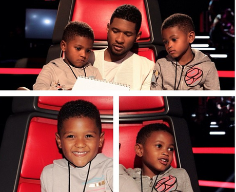 Usher's Children On The Voice