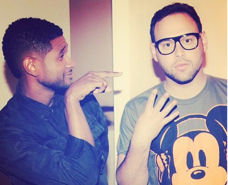Usher and Scooter Braun