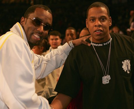 Jay-Z Sean P Diddy pose for photo