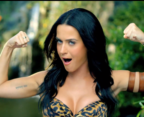 Her power is in full flow as she flexes her muscles for ... Katy Perry Roar