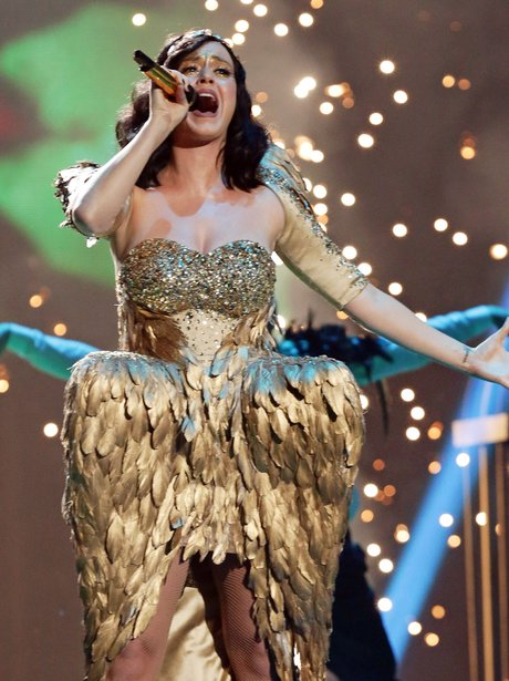 Katy Perry performs on The X Factor UK