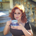 Image 7: Katy B drinking tea on a video shoot