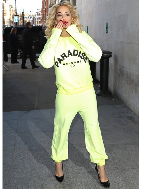 Rita Ora Tracksuit and Heals