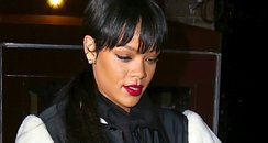 Rihanna with a long ponytail