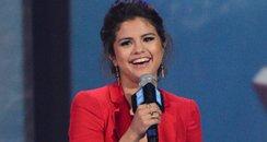 Selena Gomez giving a speech