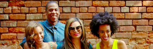 Beyonce & Solange with Jay Z