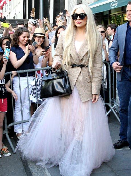 Lady Gaga with fans