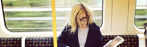 Ellie Goulding on the tube