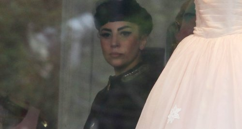 Lady Gaga shopping for wedding dress?