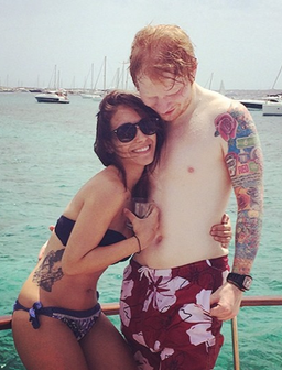 Ed Sheeran and Athina Andrelos Holiday