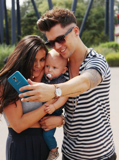 JJ Hamblett, Caterina Lopez and Baby