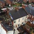 Homes damaged in Alfreton, Derbyshire following th
