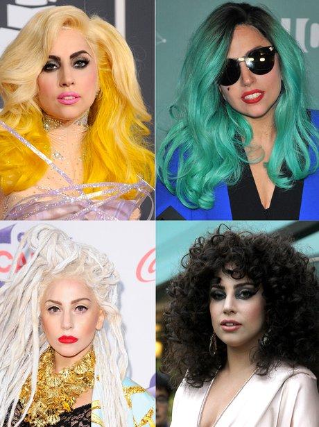 Lady Gaga's hair transformations